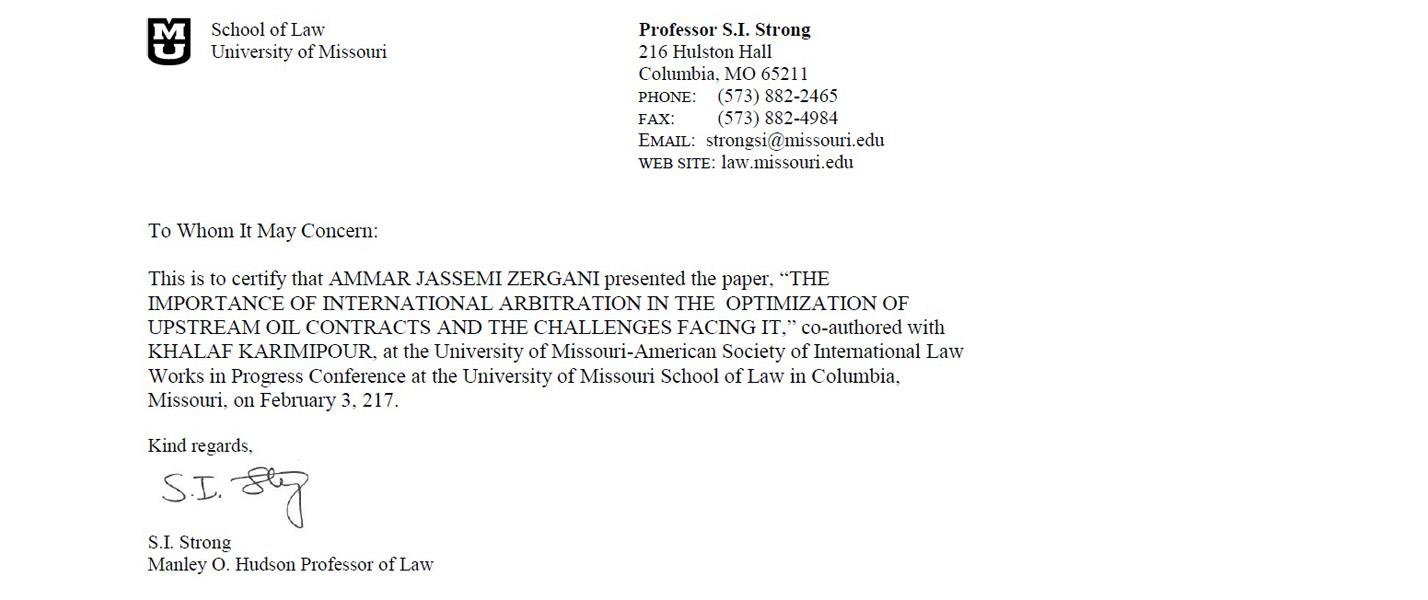 پذيرش مقاله دانشجوي دانشگاه عدالت در كنفرانس بين المللي دانشگاه ميزوري آمريكا