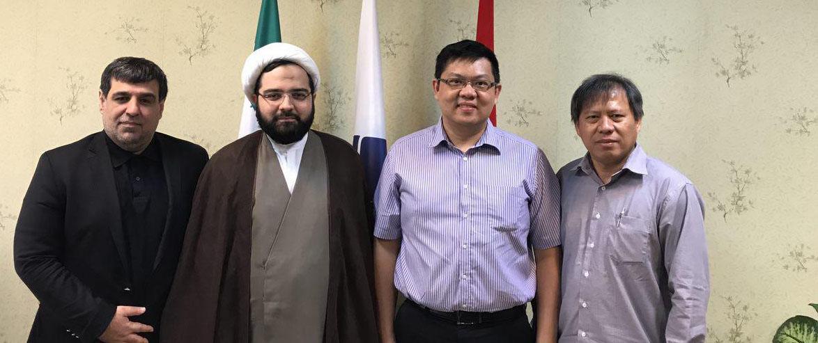 حضور رياست و معاون دانشگاه پريزيدنت اندونزي در دانشگاه عدالت